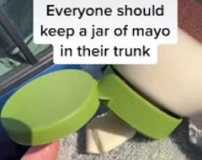 Remove Car Scrapes Using Mayonnaise