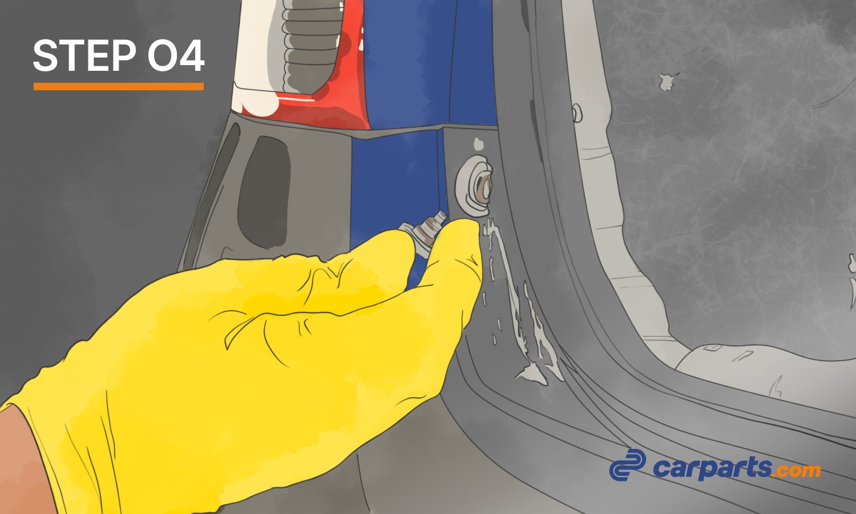removing rear bumper pin