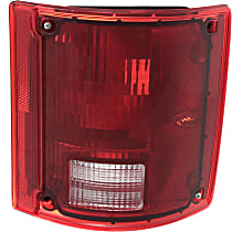 Passenger Side Tail Light, Without bulb(s) - Clear & Red Lens, w/o Chrome Trim