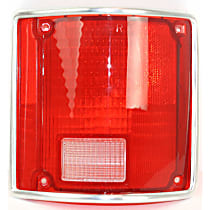 Replacement Tail Light Lens - 11-1282-09 - Passenger Side, Red, Plastic, Direct Fit, Sold individually