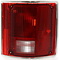 Tail Light - Passenger Side, with Chrome Trim
