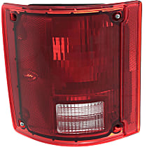 Driver Side Tail Light, Without bulb(s) - Clear & Red Lens, w/o Chrome Trim