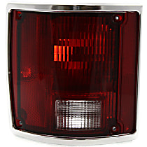 Tail Light - Driver Side, with Chrome Trim