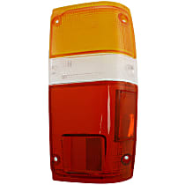Replacement Tail Light Lens - 11-1347-02 - Passenger Side, Amber, clear, red, Plastic, Direct Fit, Sold individually