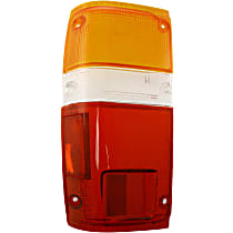 Replacement Tail Light Lens - 11-1348-02 - Driver Side, Amber, clear, red, Plastic, Direct Fit, Sold individually