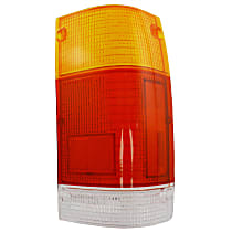 Replacement Tail Light Lens - 11-1505-02 - Passenger Side, Amber, clear, red, Plastic, Direct Fit, Sold individually