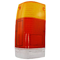 Replacement Tail Light Lens - 11-1506-02 - Driver Side, Amber, clear, red, Plastic, Direct Fit, Sold individually