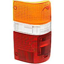 Replacement Tail Light Lens - 11-1654-02 - Passenger Side, Amber, clear, red, Plastic, Direct Fit, Sold individually