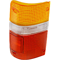 Tail Light Lens - Driver Side, Amber, clear, red, Plastic, Direct Fit, Sold individually