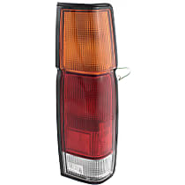 Passenger Side Tail Light, With bulb(s) - Amber, Clear & Red Lens, w/o Dual Rear Wheels