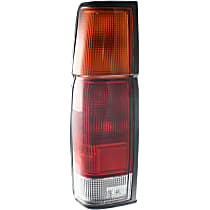 Driver Side Tail Light, With bulb(s) - Amber, Clear & Red Lens, w/o Dual Rear Wheels