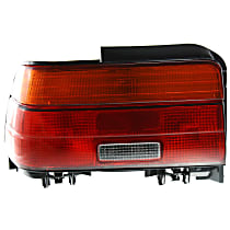 Driver Side Tail Light, With bulb(s) - Amber, Clear & Red Lens, Sedan