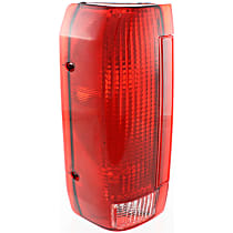 Driver Side Tail Light, Without bulb(s) - Clear & Red Lens, Styleside