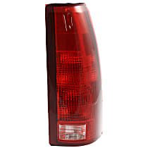 Passenger Side Tail Light, With bulb(s) - Clear & Red Lens, Exc. 15, 000 Lbs. GVW