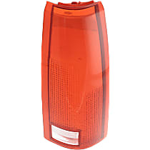 Replacement Tail Light Lens - 11-1913-01 - Passenger Side, Red and clear, Plastic, Direct Fit, Sold individually