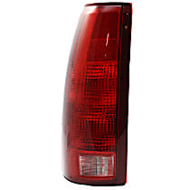 Driver Side Tail Light, With bulb(s) - Clear & Red Lens, Exc. 15, 000 Lbs. GVW