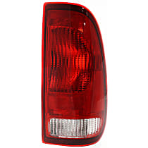 Passenger Side Tail Light, Without bulb(s) - Clear & Red Lens, Styleside