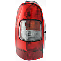 Driver Side Tail Light, With bulb(s) - Amber, Clear & Red Lens