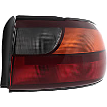 Passenger Side Tail Light, With bulb(s) - Amber, Clear & Red Lens
