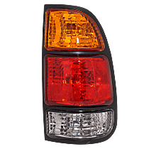 Passenger Side Tail Light, With bulb(s) - Fits Regular/Access Cab w/ Standard Bed, Amber, Clear & Red Lens