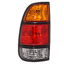 Driver Side Tail Light, With bulb(s) - Fits Regular/Access Cab w/ Standard Bed, Amber, Clear & Red Lens