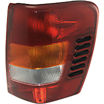 Passenger Side Tail Light, Without bulb(s) - Amber, Clear & Red Lens, To 11-01