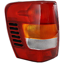 Driver Side Tail Light, Without bulb(s) - Amber, Clear & Red Lens, To 11-01