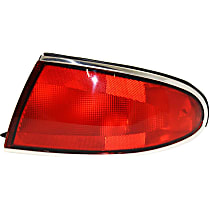 Passenger Side Tail Light, Without bulb(s) - Red Lens