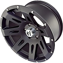 Powdercoated Black Satin Finish Wheel - 17 in. Wheel Diameter X 9 in. Wheel Width