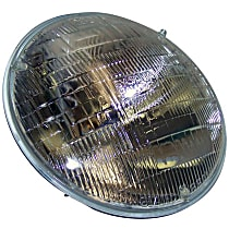 Driver or Passenger Side Halogen Headlight, With bulb(s)