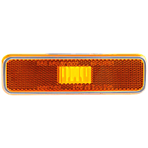 Front, Driver or Passenger Side Side Marker, Without bulb(s)