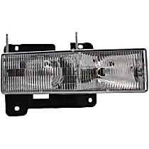 Passenger Side Headlight, With bulb(s) - Composite Type, CAPA CERTIFIED