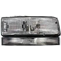 Passenger Side Headlight - w/ Black Edged Lens