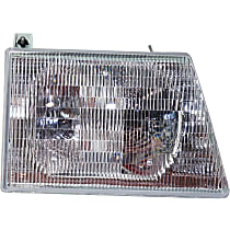Passenger Side Headlight, With bulb(s) - Composite Type