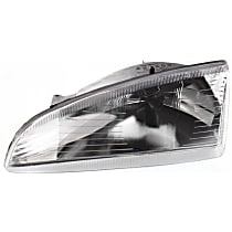 Driver Side Headlight, Without bulb(s) - Horizontal Fluted