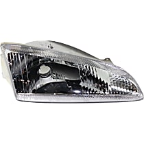 Passenger Side Headlight, Without bulb(s) - Vertical Fluted