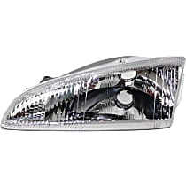 Driver Side Headlight, Without bulb(s) - Vertical Fluted