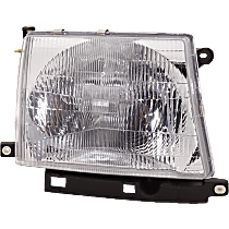 Passenger Side Headlight, With bulb(s) - 97-00 Tacoma (2WD/98-04 4WD), Composite