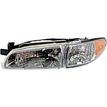 Coupe/Sedan, Driver Side Headlight, With Headlight bulb; Without parking and signal light bulb(s)