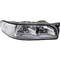 Passenger Side Headlight, With bulb(s) - With Corner Light