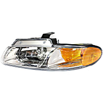 Driver Side Headlight, With bulb(s) - Single Beam, w/o DRL