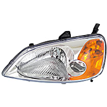 Sedan, Driver Side Headlight, With bulb(s)