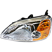 Coupe, Driver Side Headlight, Without bulb(s)