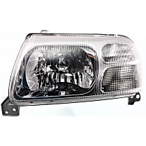 Driver Side Halogen Headlight, Without bulb(s)