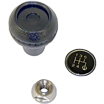 Crown 3241073K Shift Knob - Black, Plastic, Round, Direct Fit, Kit