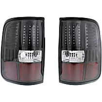 LED Design, Driver and Passenger Side Tail Light, Without bulb(s) - Black Interior, Styleside, Exc. Heritage Models