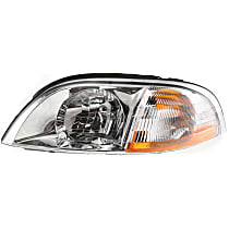 Driver Side Halogen Headlight, With Headlight bulb; Without parking and signal light bulb(s)