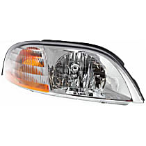 Passenger Side Halogen Headlight, With Headlight bulb; Without parking and signal light bulb(s)