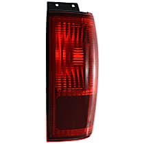 Passenger Side, Outer Tail Light, Without bulb(s) - Red Lens