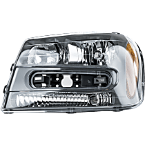 Headlight - Driver Side, With Bulb(s), Dual Beam; For Models With Extended Grille Molding